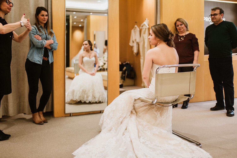essais robe de mariage chez Pronovias