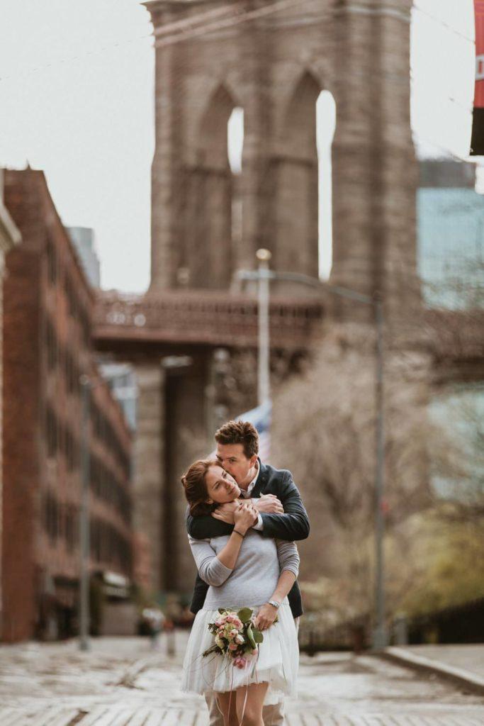 photo couple renouvellement de voeux brooklyn New-York