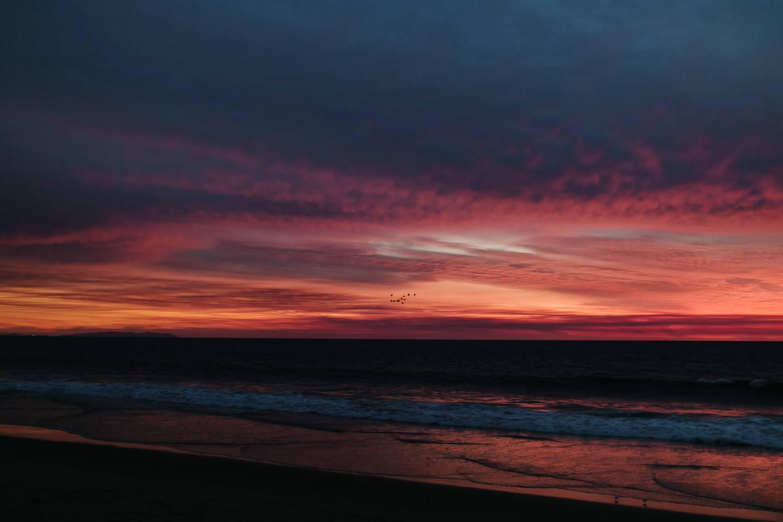 photo coucher de soleil Santa Monica