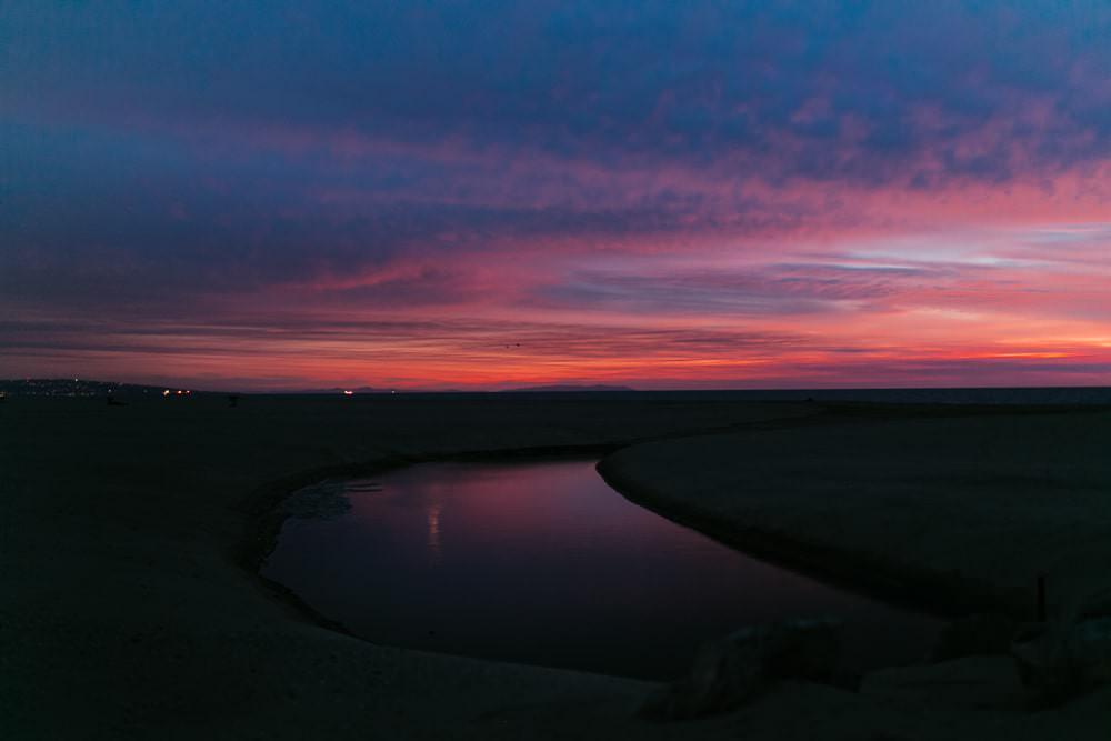photo coucher de soleil à la plage Hérault