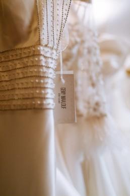 robe de mariée en soie et perle. gemy maalouf bridal