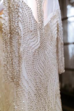robe de mariage sirène avec diamant et décolleté, new york bridal fashion week