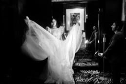 shooting photo robe de mariée création gemy maalouf de new york