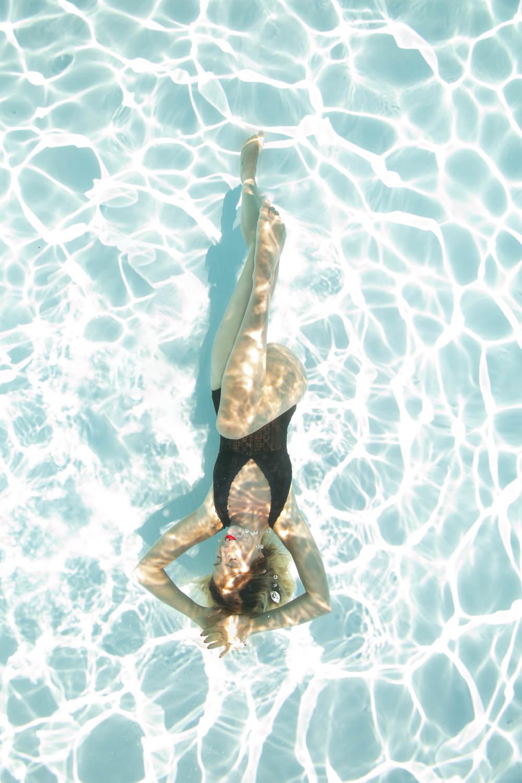 séance photo sous l'eau, photographe aquatique