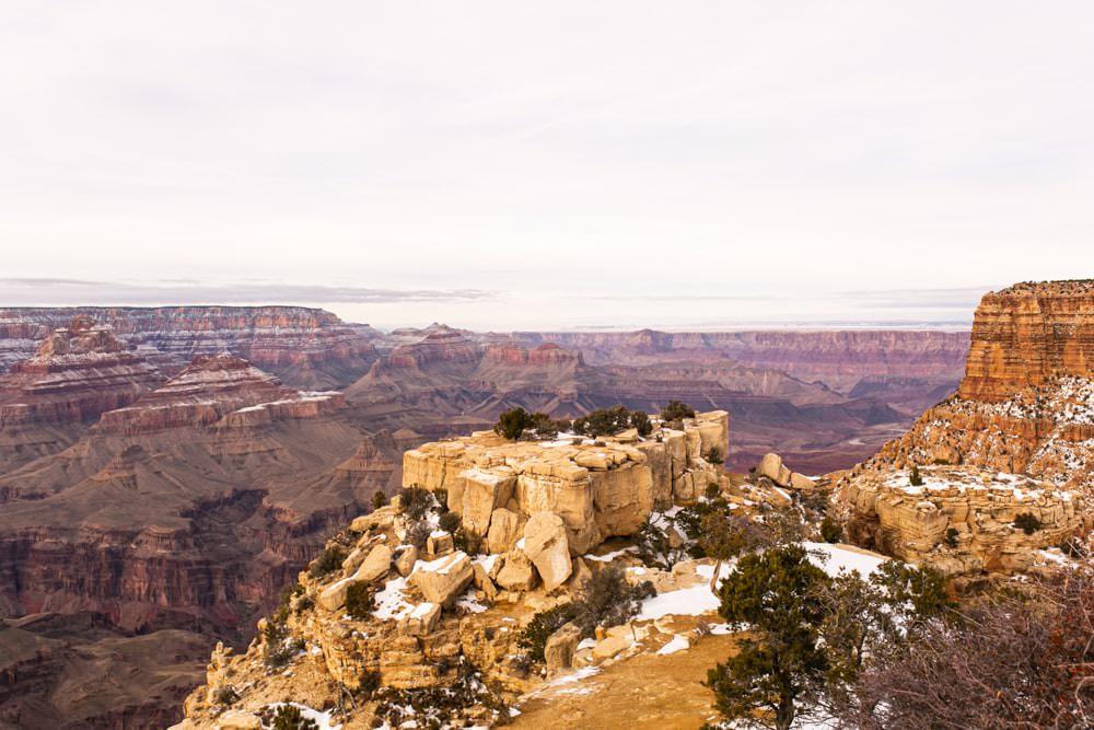 photo grand canyon sous la neige