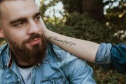 tatouage i'll never forget you sur l'avant bras intérieur à montpellier
