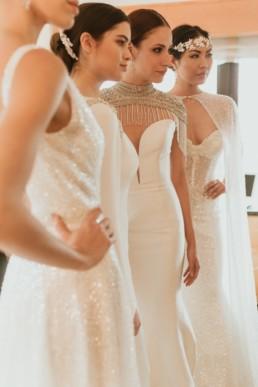 défilé de robe de mariée a new york pour le show room de yumi katsura couture