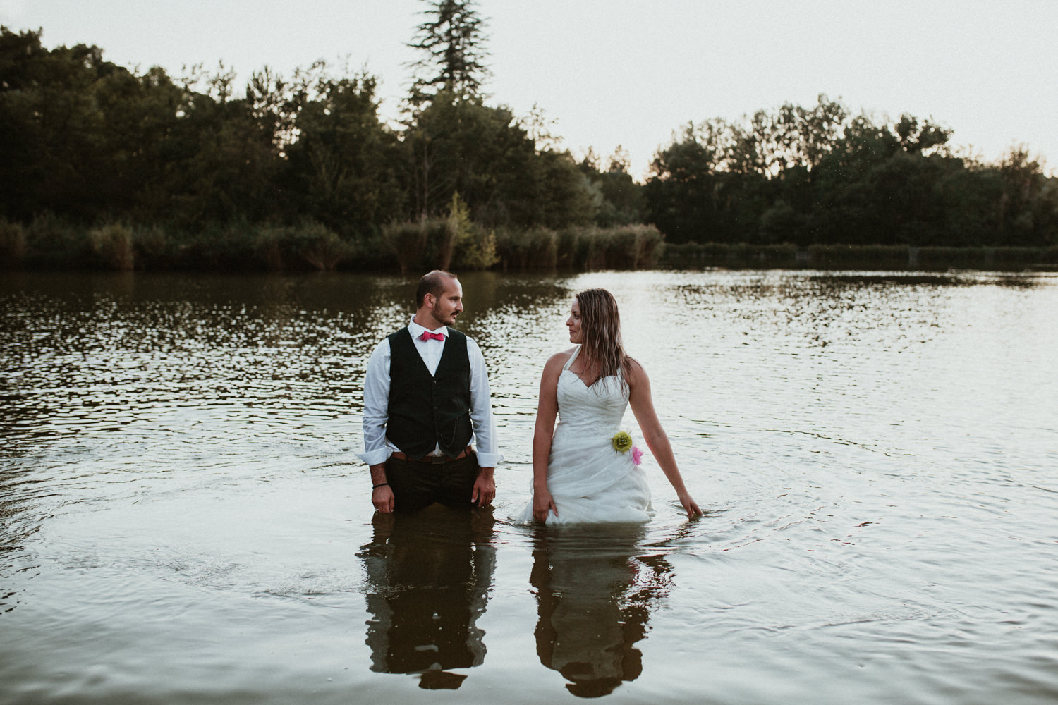 photographe couple trash the dress, day after