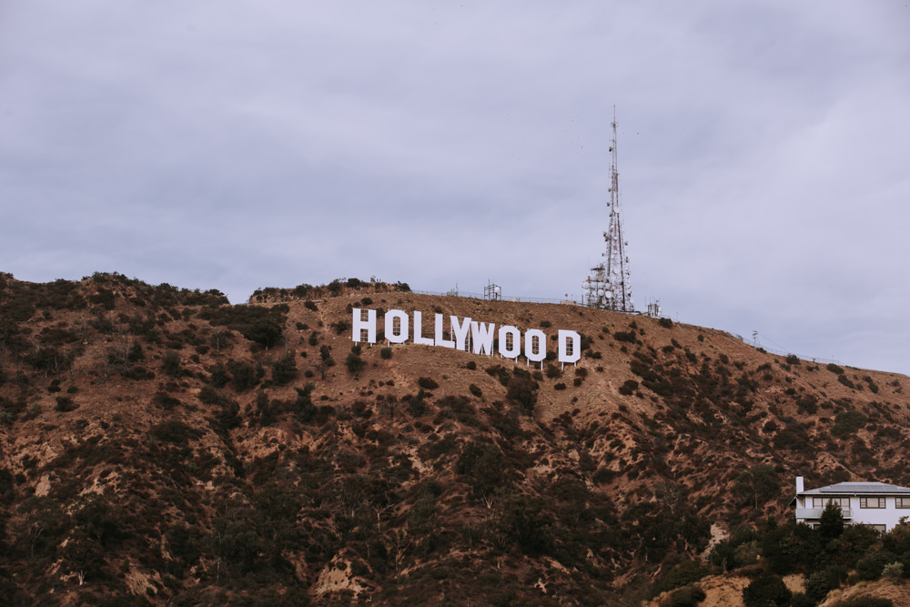 Photo lettres hollywood en californie