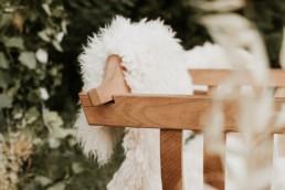 fauteuil de la mariée pour la cérémonie laïque de mariage a frontignan