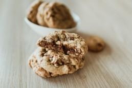 Cookies coeur coulant au chocolat et éclats de noisettes, à Arles