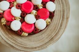 Tarte de printemps framboise et pistache, meringue, et vanille , restaurant la grande-motte