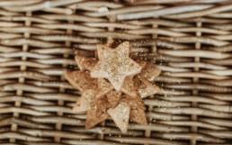 Petits sablé de noël en formes d'étoiles à la pâtisserie de saint jean de védas à côté de montpellier