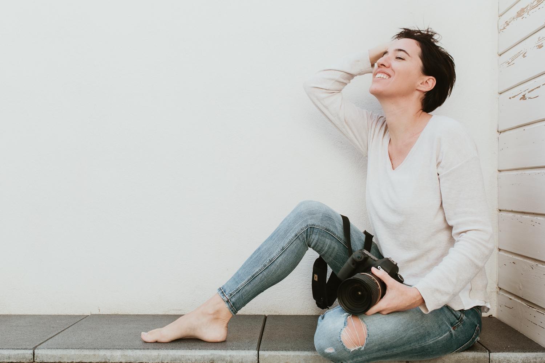 portrait femme photographe à Mauguio Hérault