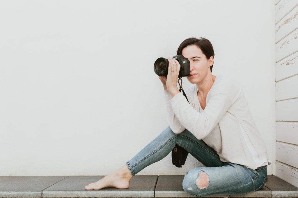 portrait de femme photographe à Mauguio