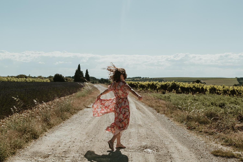 shooting photo femme provence et lavande