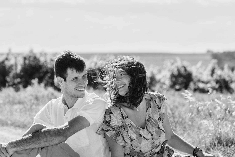 photo couple en noir et blanc