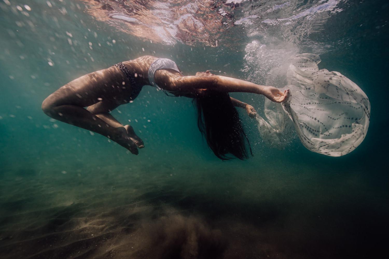 portrait aquatique en mer