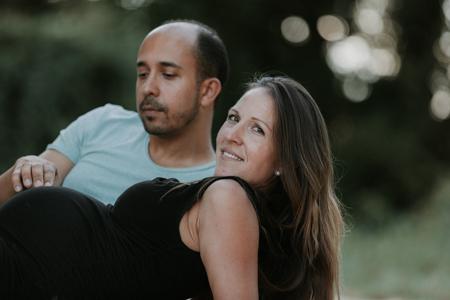 photographe futurs parents lac de Montaud