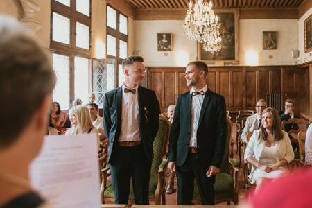 Photographe mariage gay à Comps