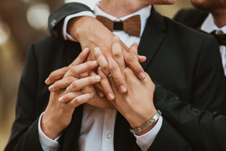 Photographe mariage gay à La Grande-Motte