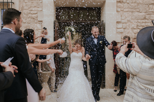 photo sorti de mairie mariage Velleron