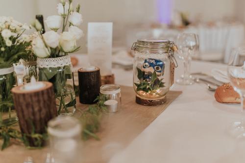 décoration table mariage velleron